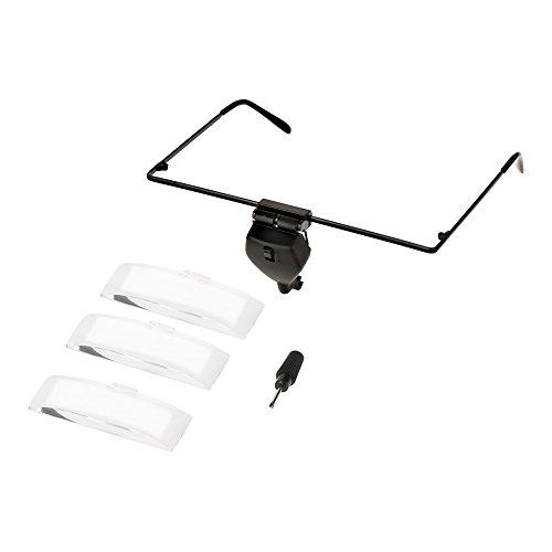 VGEBY Brillen Vergrößerungsglas, LED Licht Vergrößerungsglas Uhr Reparatur Eyewear Lupe