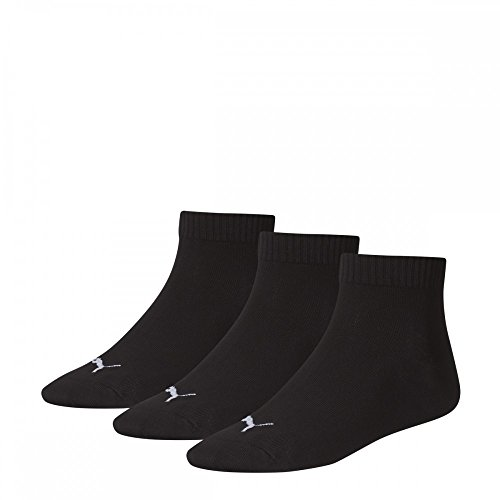 Unisex Quarters Socken Sportsocken 6er Pack (black / black 200, 47-49)
