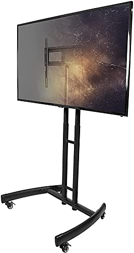 TV Stand Mobile TV Stand with Mount for 32 to 55 Inch Flat Panel Screens - Black (Size : 32-55 Inch)