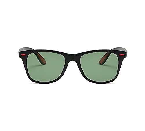 NYKKOL Polarisierte Sonn enbrille Herren Damen Retro Sonnenbrille Männlich/Sport im Freien Golf Radfahren Angeln Wandern Eyewear Sonnenbrille (Schwarz)