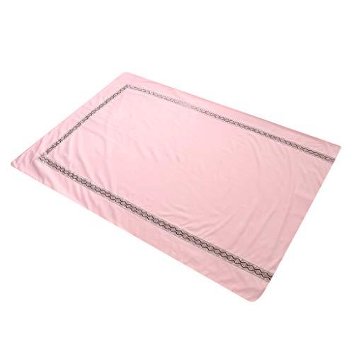 F Fityle 120x180cm Auflage Tuch Bettwäsche Betttuch Cover für Massageliege, aus Baumwolle - Jade Pink