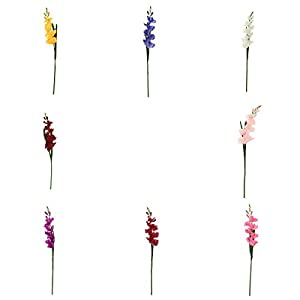 joyMerit 8Pcs Artificial Flowers Gladioli Gladiolus stem for Wedding Room Home Hotel Party Event Christmas Decor Multi Colors Available