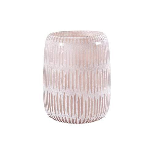 Roze decoratieve vaas, Creative glazen vaas Lily Rose Bloemstuk Vaas verkrijgbaar in 3 maten Desktop Vaas makkelijk te gebruiken vase (Color : 17.5 * 17.5 * 22cm)