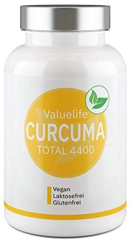 CURCUMA TOTAL I Curcumin- Weihrauch - Komplex I Volles Wirkstoffspektrum inkl. Antioxidantien I Vegan, ohne Zusatzstoffe I Monatskur von VALUELIFE