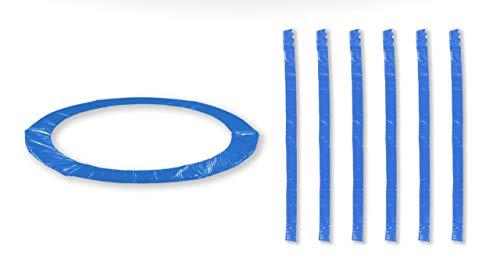JUMP4FUN Zubehör für Trampolin, für draußen, Deluxe, 10 m, 12 m, 13 m oder 14 m, Set Relooking, Größen und Anzahl Stangen, blau, 13FT 12 Perches