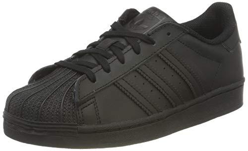 adidas Superstar J, Scarpe da Ginnastica, Core Black/Core Black/Core Black, 36 EU