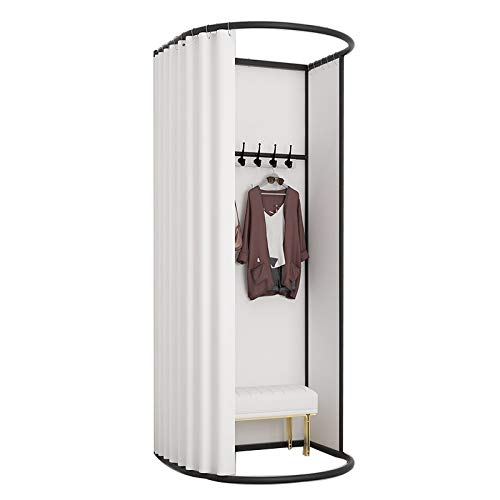 LJIANW Vestuario Portátil, Sombreado Protección De Privacidad Probador, Cuadrado Ahorra Espacio por Interior Al Aire Libre Tienda De Ropa Cortina De Privacidad, 15 Colores