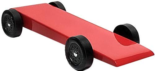 Pinewood Pro Pine Derby Car Kit with PRO Graphite - Painted and Weighted - Red Shark