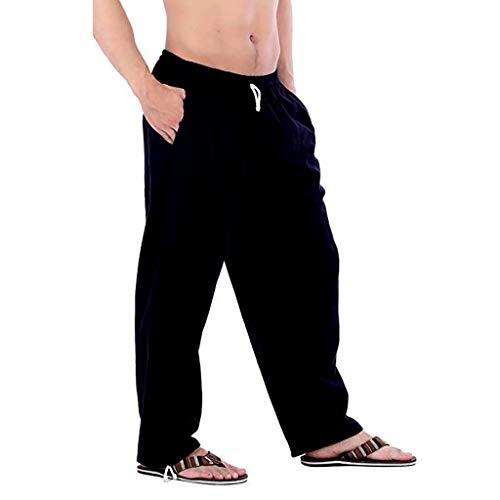 Pantalones de Trabajo de Hombre, Color Puro Pantalón Chandal Hombre con Bolsillo Pant para Deporte Trabajo