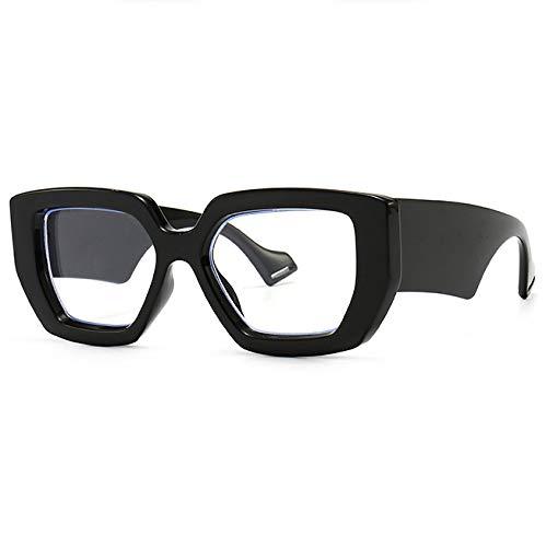 (富士山眼鏡) 無骨 極太 テンプル 見た目破壊系 GOGLA ゴーグラ ラグジュアリー メガネ フレーム 伊達 大きい おしゃれ だてめがね 大きめ レディース メンズ だて眼鏡 FUJIYAMA GLASSES GLASS 宮川大輔 (ブラックフレーム