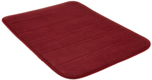 Memory Foam Bath Mat-Incredibly Soft and Absorbent Rug, Cozy Velvet Non-Slip Mats Use for Kitchen or Bathroom (17 Inch x 24 Inch, Burgundy)