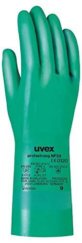 Uvex Nitril- / Chemikalienhandschuh - Hochwertiger Schutzhandschuh gegen chemische und mechanische Risiken - 10