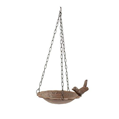 Mangeoire Oiseau Suspendu Fonte - Marron...