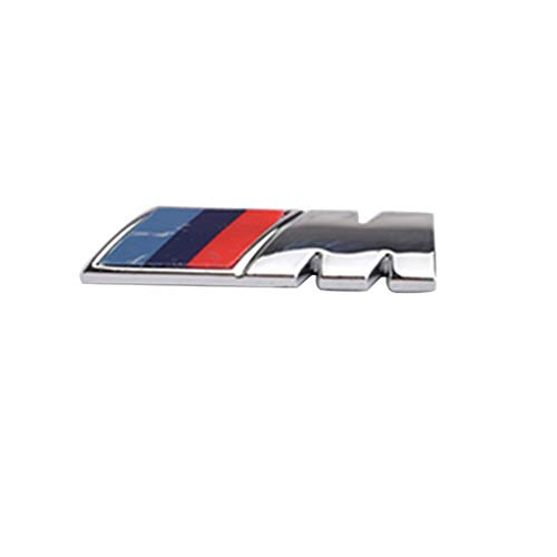 YHJGKO 2ST FÜR M Logo-Abzeichen Fender-Aufkleber, Auto Styling ABS Auto M Power-Emblem-Abzeichen Fender-Aufkleber für BMW E46 E39 E90 E36 E60 E34 E30 F30 F10 F15 E53 E38 X5 E53 X6 X1 X3 M3 M5