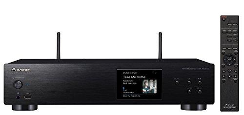 Pioneer N-30AE(B) Network Player (Multiroom, Wifi, Streaming, Apple AirPlay, Music Apps, Spotify, Tidal, Deezer, Internet Radio, Hi-Res Audio, LCD Colour Display, Aluminium Front Panel) Black
