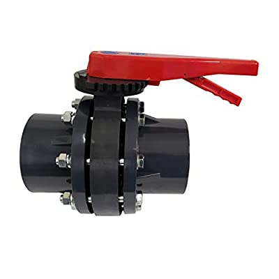 ERA SCH 80 PVC 6 Inch Butterfly Valve Kit, with Flanges and Hardware by ERA