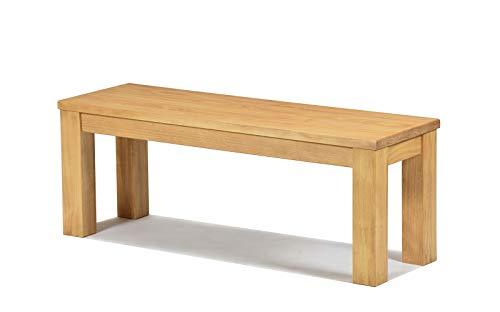 Naturholzmöbel Seidel Sitzbank 120x38cm Rio Santo Farbton Honig hell Massivholz Pinie Bank geölt und gewachst, Optional: passende Tische und Bankauflagen