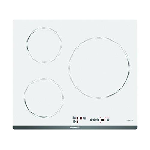 Brandt BPI6315W plaque Blanc Intégré Plaque avec zone à induction - Plaques (Blanc, Intégré, Plaque avec zone à induction, Verre-céramique, 2000 W, 16 cm)