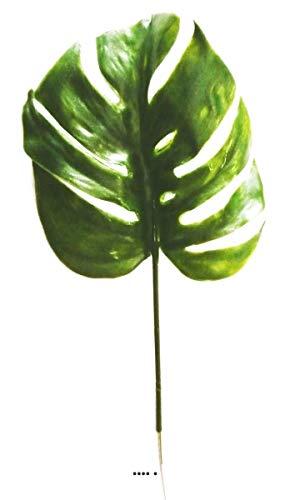 Artificielles.com - Feuille de Philodendron H39cm Plastique pour extérieur D15cm Originale