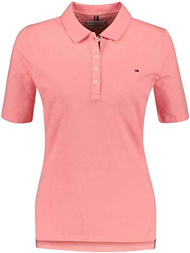 Tommy Hilfiger - Polo de manga corta con cuello abotonado, color salmón rosa S