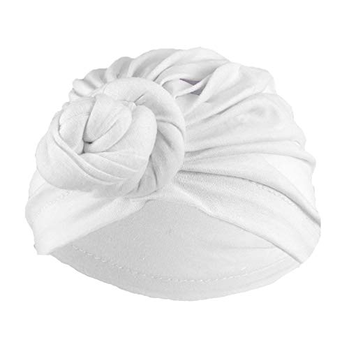 Vintage Milwaukee Mall Look Max 86% OFF Turban Pleated Gypsy WHITE Costume Accessory