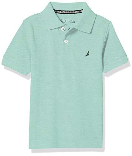 Nautica Boys' Short Sleeve Heathered Polo, Light Mint, 3T