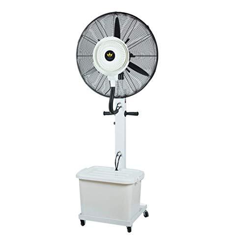 Los aficionados pedestal de torre potente ventilador oscilante al aire libre ventilador de la bruma - Ampliación de rociamiento de interiores de refrigeración ajustes de velocidad del ventilador indus