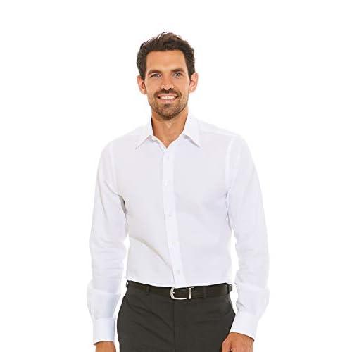 The Savile Row Company London White Dobby Square Slim Fit Shirt – Single Cuff 16 1/2″ Standard