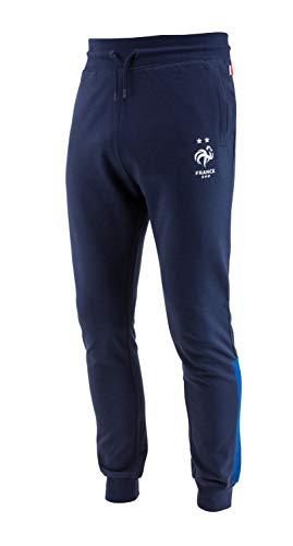 Equipe de France de Football Frankreich Fußball-Hose, Molton, FFF, offizielle Kollektion, Herrengröße L blau