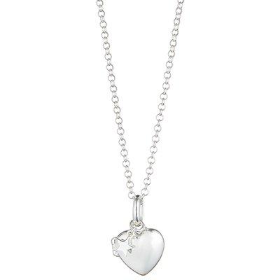 Molly Brown London personalisierbares Medaillon in Herzform, für Mädchen, klein