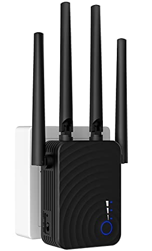 [Nueva versión 2021] Amplificador WiFi, extensor de alcance WiFi fuerte de pared 1200mbps, cobertura completa de hasta 3000 pies cuadrados