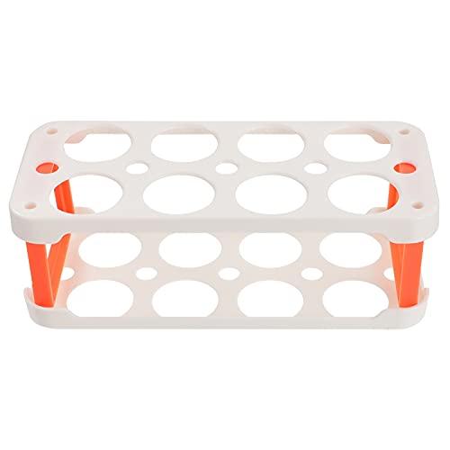Cabilock Porta Huevos Apilables Organizador de Nevera Contenedores Bandeja de Huevos Caja de Almacenamiento Dispensador de Huevos de Plástico Contenedor para Refrigerador Blanco