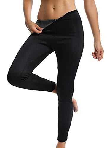 STARBILD Leggins Deportivas para Mujer para Adelgazar Leggins Anticeluliticos Mallas Termicos de Neopreno Fitness Deporte Correr Yoga Pantalón de Sudoración Adelgazantes Largo Negro 3XL