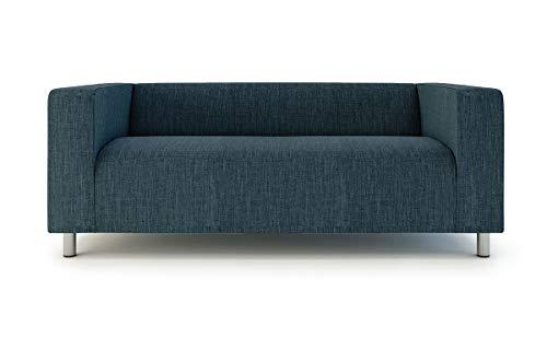 Klippan Zweisitzer-Bezug für IKEA 2-Sitzer Klippan Loveseat Sofabezug, Ersatzbezug aus Polyester, Marineblau