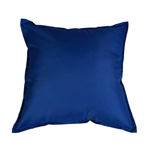 iStyleMode Set Of 2 Outdoor Garden Filled Cushion Covers Waterproof - 24' X 24' - Breathable Fabric - 60cm x 60cm (Blue)