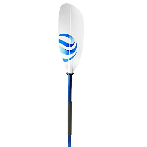 Shoreline Marine Propel Motion Kayak Paddle, White/Blue, 84'
