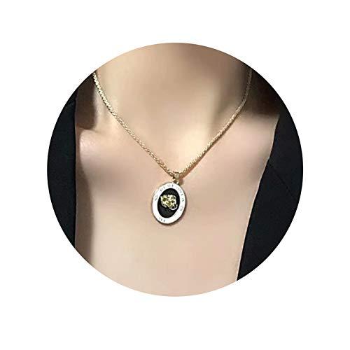 N&A Forma de Collar Collar en Capas Collares Decoración Colgante Personalizada Cadena de Plata Joyería para Colgante geométrico Joyería Colgante Collar de Cadena de clavícula Gargantilla clásica