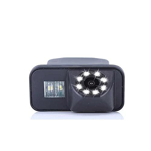 【Visión nocturna de 8 LED】Cámara de visión trasera con luz de matrícula de alta calidad, reemplazo para New Beetle/PHAETON/SCIROCCO/Golf/Variant/Seat Leon/Skoda superb/Yeti/GOLF MK5/EOS/Polo V