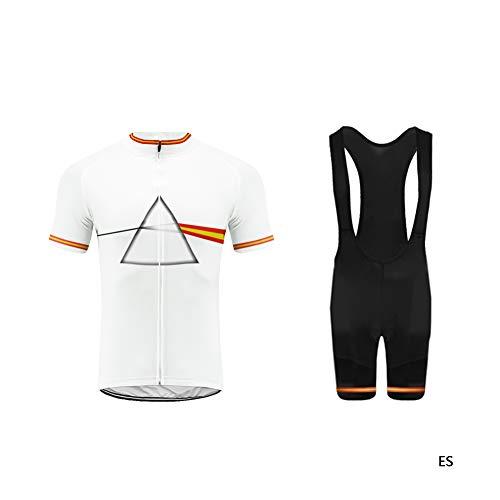 Uglyfrog ESHNE04 Bike Wear Ciclismo Hombres Maillots Bicicleta Conjunto de Ropa de Ciclo Jersey/Correa Pantalones,Montar Ropa Set, Higroscópico, Transpiración, Montar Ropa