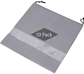 "TINTON LIFE Set of 10 Non-woven 19.7""x19.7"" Drawstring Dust Cover Bag with Visual Window for Handbags Purses Shoes"