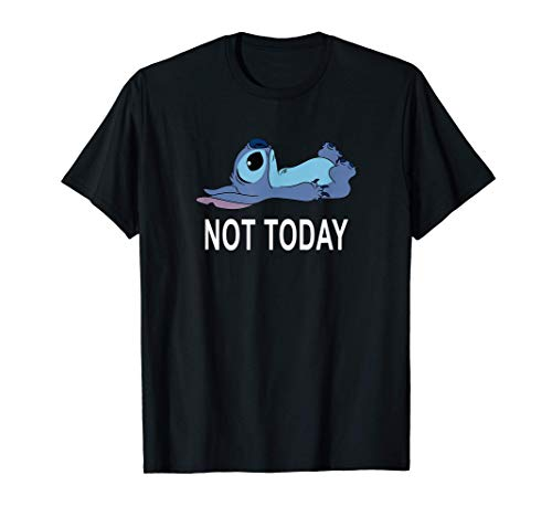 Disney Lilo & Stitch Laying Down Not Today Friend T-Shirt