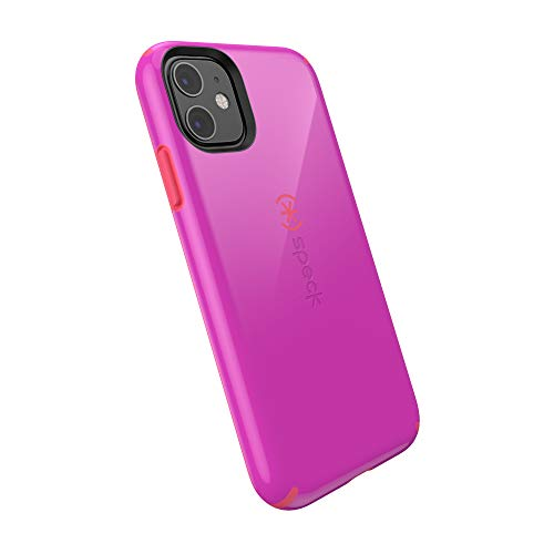 Speck CandyShell iPhone 11 Case, Soda Purple/Dash Pink