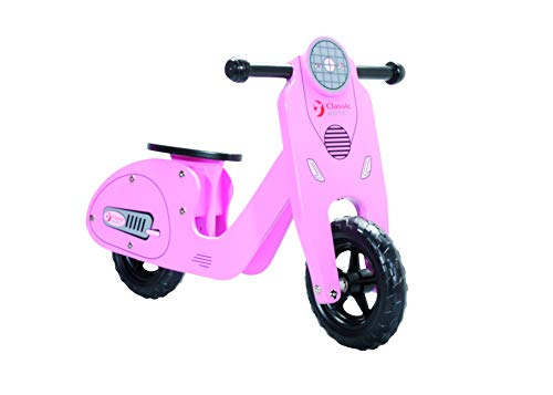 SommerMobil Laufrad Motorroller – Rosa aus Holz