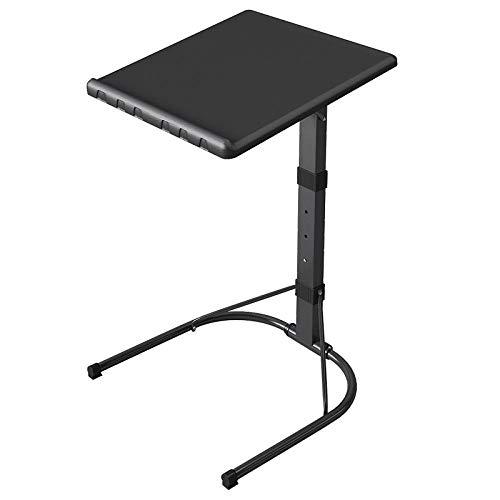 Acero Carbono Soporte para Ordenador con Panel PP Negro,Altura Ajustable, Plegable,Mesitas Auxiliares...