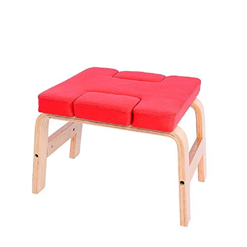 Buy YFFSS Yoga Headstand Bench - Stand Yoga Chair for Family, Gym - Wood and PU Pads - Home Fitness ...