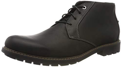Clarks Men's Curington Over Klassische Stiefel, Schwarz (Black Leather), 43 EU