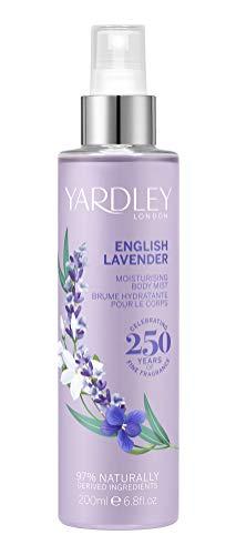 Yardley English Lavender Fragrance Mist 6.8oz (200ml) Spray for Women, clean