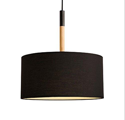 Nouvelle personnalité nordique créatif lustre salon étude chambre tissu ombre ronde simple moderne lustre, sans ampoules , black