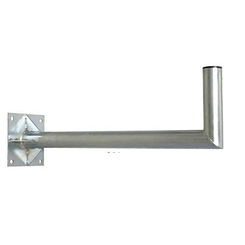 PremiumX 80cm Wandhalter Stahl verzinkt SAT Antenne Wandhalterung Wand Montage Halter Wandabstand 800mm Ø 60mm mit Verstrebung