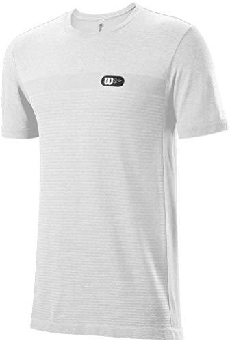 WILSON Camiseta Men's Bela Seamless Crew (White, M)